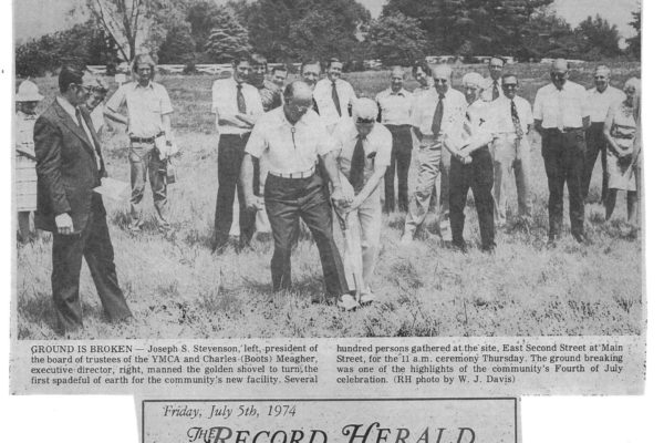 Breaking ground in 74
