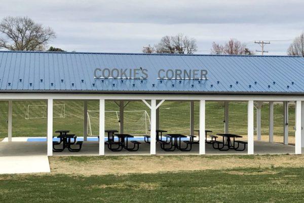 Cookies corner side view of pavilion